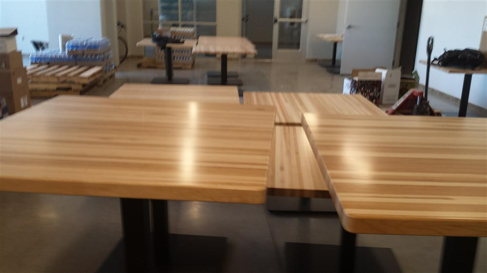 Custom wood table from MTE Millwork
