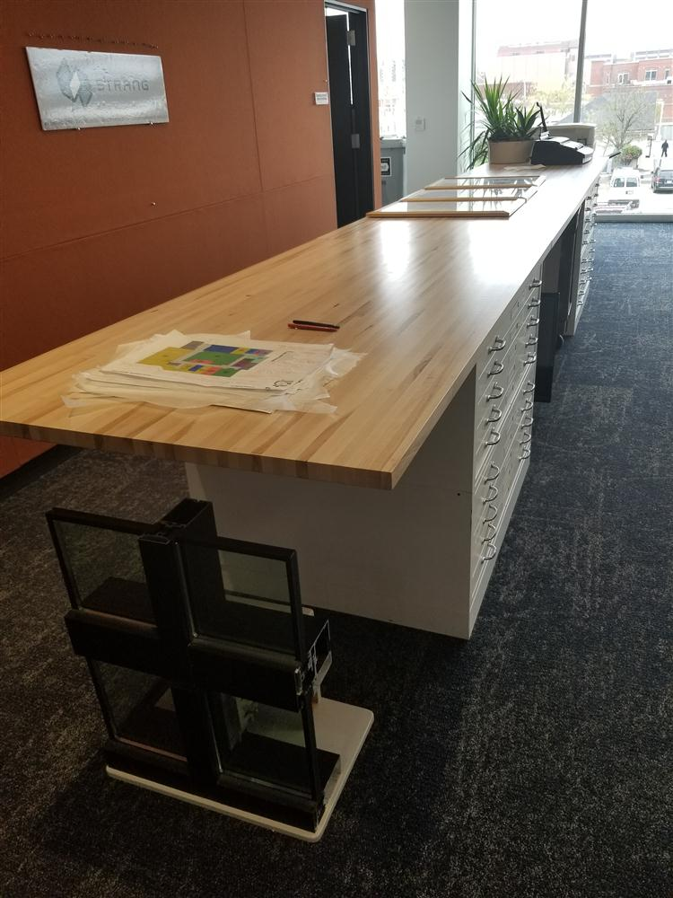 Wood office meeting table